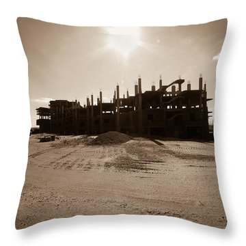 Throw Pillow featuring the photograph T R Lone by Jez C Self