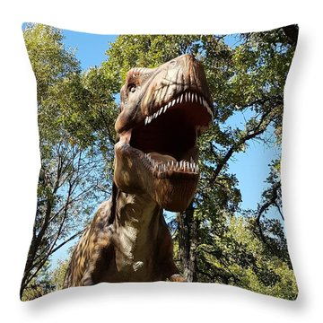 T Rex Throw Pillow