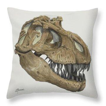T. Rex Skull 2 Throw Pillow