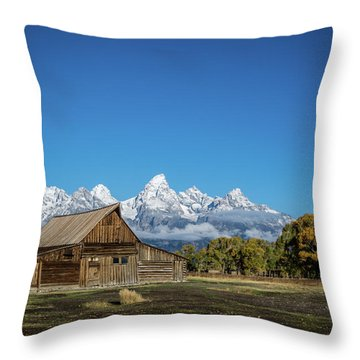 T.a. Moulton Barn Throw Pillow by Mary Hone