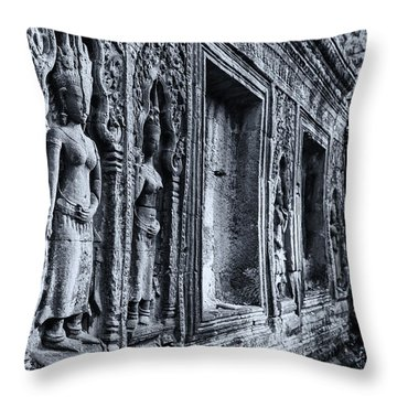 Ta Phrom Cambodia Throw Pillow by Kathy Adams Clark