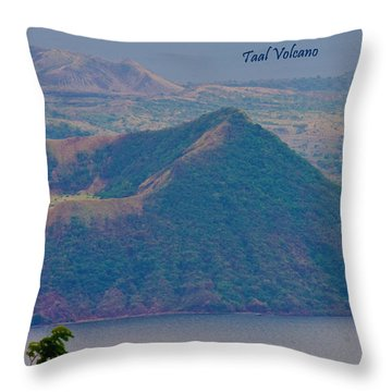 Taal Volcano Throw Pillow
