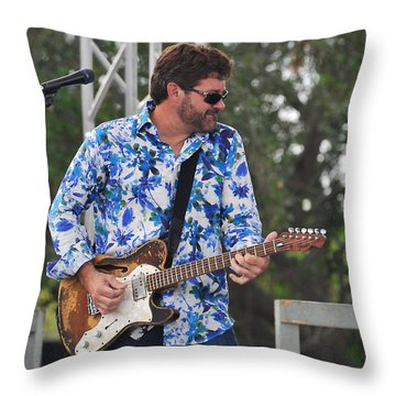 Tab Benoit And 1972 Fender Telecaster Throw Pillow