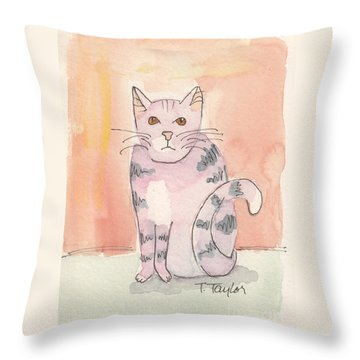 Tabby Throw Pillow by Terry Taylor