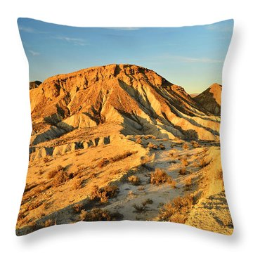 Tabernas Desert Almeria Spain Throw Pillow by Marek Stepan