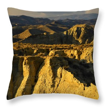 Tabernas Desert Spain Throw Pillow by Marek Stepan