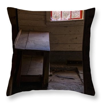 Table And Window Throw Pillow