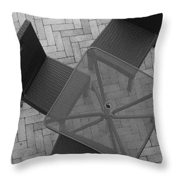Table Chairs From Above Throw Pillow by Rob Hans