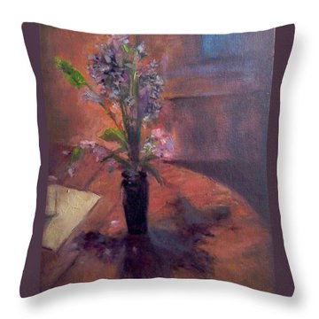 Table Flowers #1 Throw Pillow by Brian Kardell