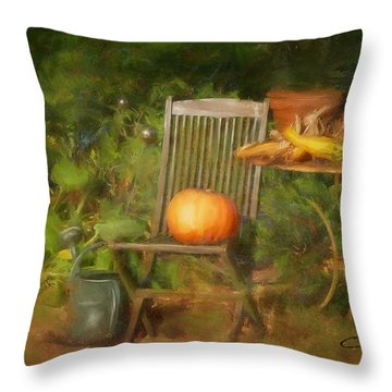 Table For One Throw Pillow by Colleen Taylor