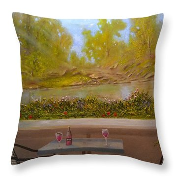 Wine And Shine Throw Pillow