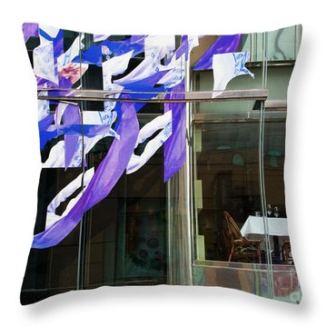 Throw Pillow featuring the photograph Table For Two by Chris Dutton
