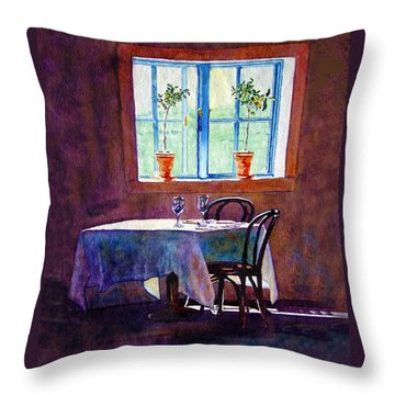 Table For Two Throw Pillow by Gail Chandler
