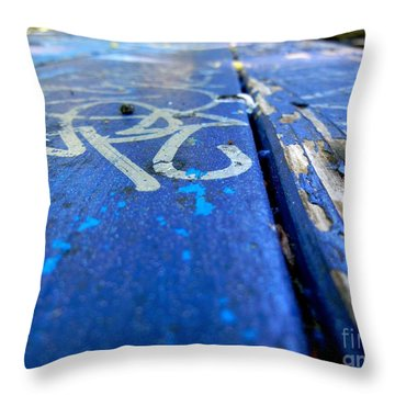 Table Graffiti Throw Pillow