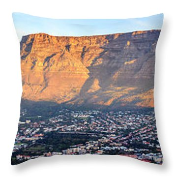 Throw Pillow featuring the photograph Table Mountain by Alexey Stiop