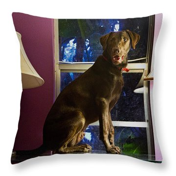 Table Ornament Throw Pillow by Roger Wedegis