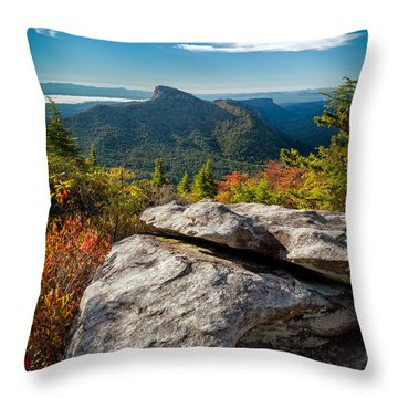 Table Rock Fall Morning Throw Pillow