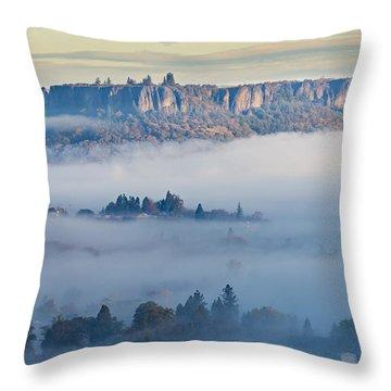 Table Rock Morning Throw Pillow
