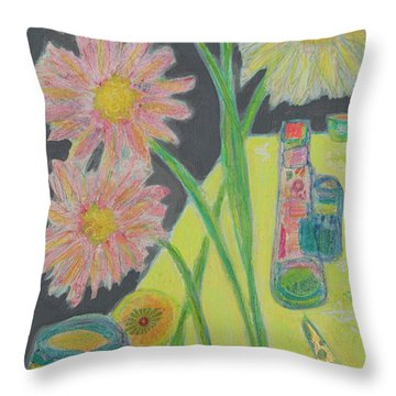 Table Scape Throw Pillow