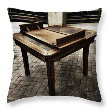 Throw Pillow featuring the photograph Table That Thought. This Beautiful by Mr Photojimsf