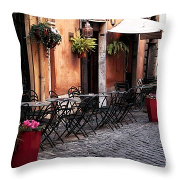 Tables In The Alley Throw Pillow