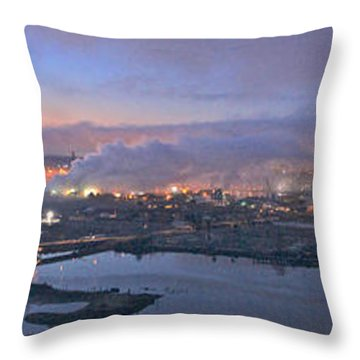 Tacoma Dawn Panorama Throw Pillow