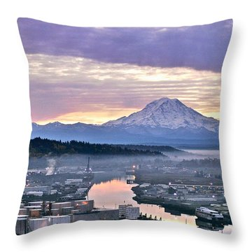 Tacoma Dawn Throw Pillow