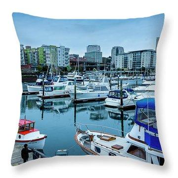 Tacoma Waterfront Marina,washington Throw Pillow