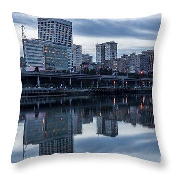 Tacoma Waterfront,washington Throw Pillow