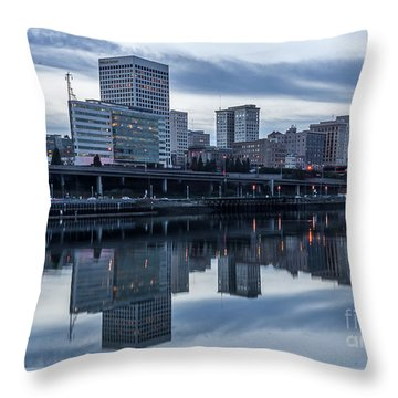 Tacoma Waterfront,washington Throw Pillow