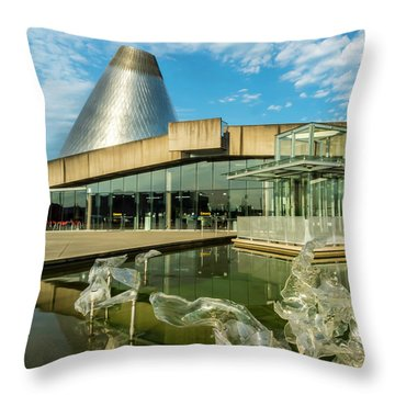 Tacoma's Museum Of Glass  Throw Pillow
