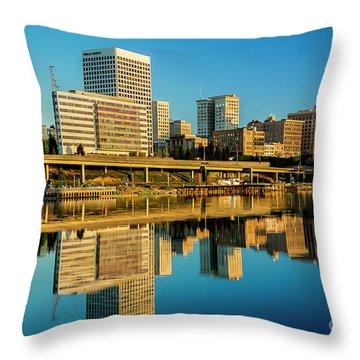 Tacoma's Waterfront,washington Throw Pillow