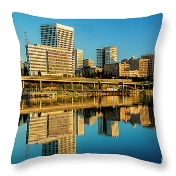 Tacoma's Waterfront,washington Throw Pillow