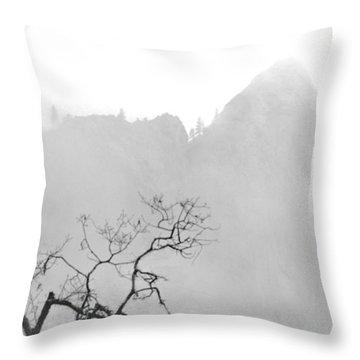 Taft Point In Mist Throw Pillow