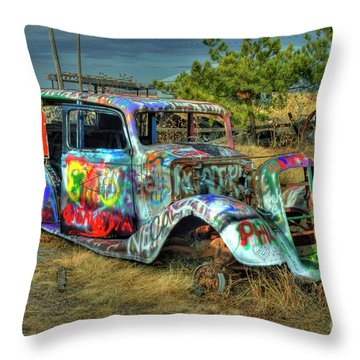 Tagged #3 Throw Pillow