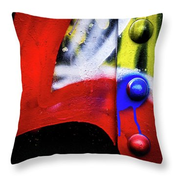Tagged Metal 2 Throw Pillow
