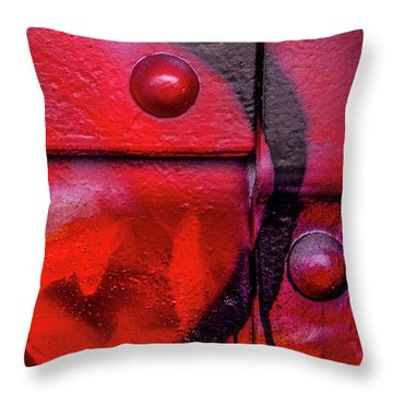 Tagged Metal  Throw Pillow