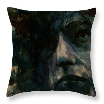 Tagged Up In Blue- Bob Dylan  Throw Pillow