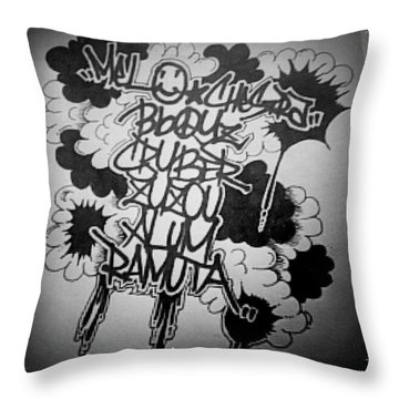 Tagging Throw Pillow