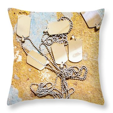 Throw Pillow featuring the photograph Tags Of War by Jorgo Photography - Wall Art Gallery