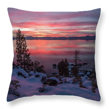 Tahhhhhoe Sunset Throw Pillow