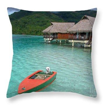 Tahitian Boat Throw Pillow
