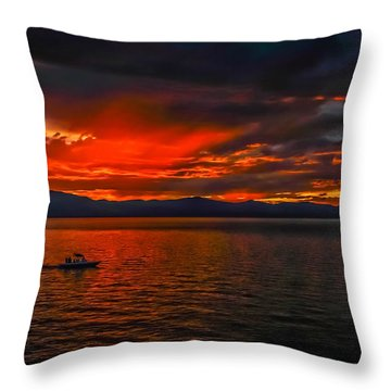 Throw Pillow featuring the photograph Tahoe Boat Ride by Mitch Shindelbower