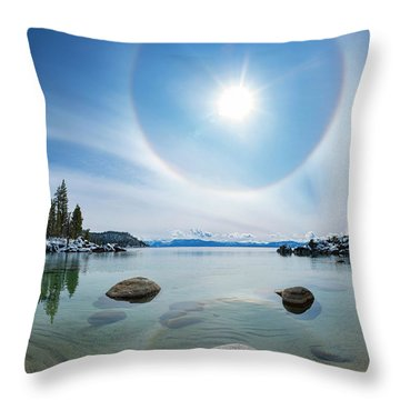 Tahoe Halo By Brad Scott Throw Pillow