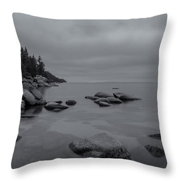 Tahoe In Black And White Throw Pillow