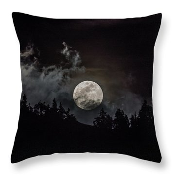 Tahoe Moon Cloud Throw Pillow