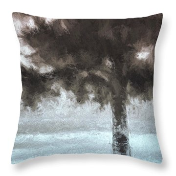 Tahoe Pine Painterly Effect Throw Pillow