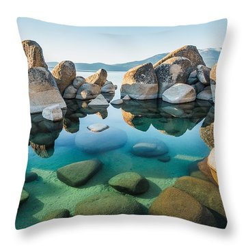 Tahoe Reflections Throw Pillow