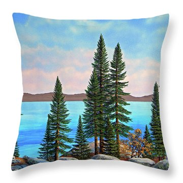 Tahoe Shore Throw Pillow