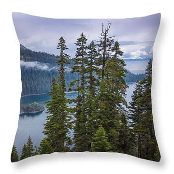 Emerald Bay With Steamboat Throw Pillow